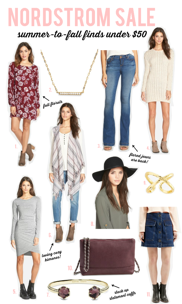 Nordstrom Sale: Summer to Fall Picks (Under $50)