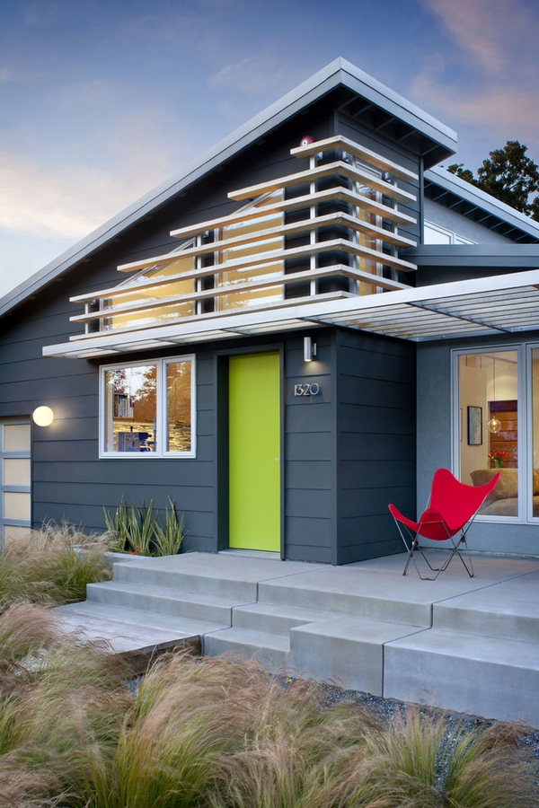 Bedroom ideas best exterior paint colors for minimalist home for Modern gray house exterior
