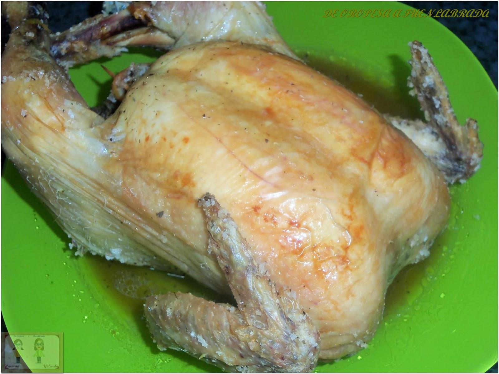 Pollo a la sal con finas hierbas recetas de cocina - Pollo asado a las finas hierbas ...