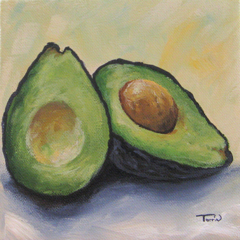 Torrie Smiley, Original Works of Art: Avocado ~ Claybord ...