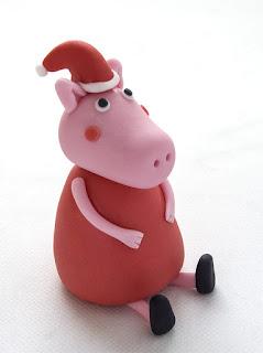 Pujsa Pepa - Peppa Pig fondant Christmas