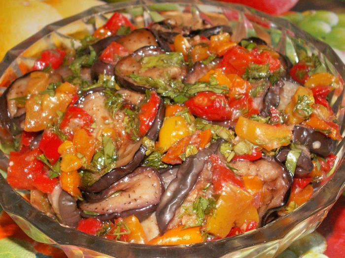 Мясо баклажан болгарский перец как приготовить