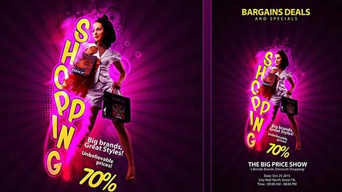Create Creative Shopping Flyer In Photoshop