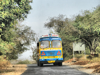 Colourful truck in Gujarat
