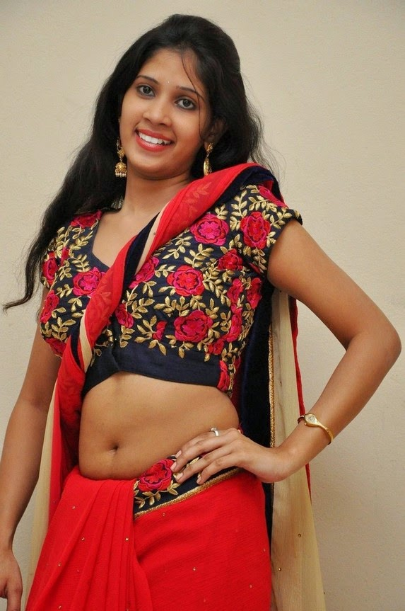 actress om sizzling photos in saree-HQ-Photo-16