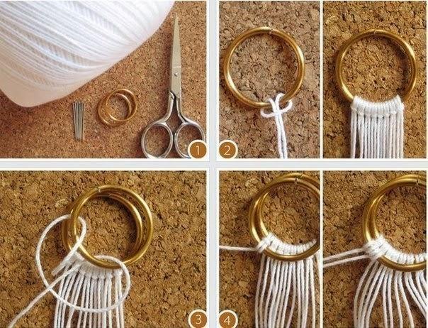 Плетенное кольцо макраме