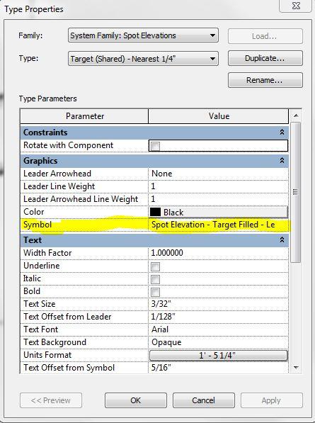 Spot Elevation Plan Revit : The revit spot elevation target size