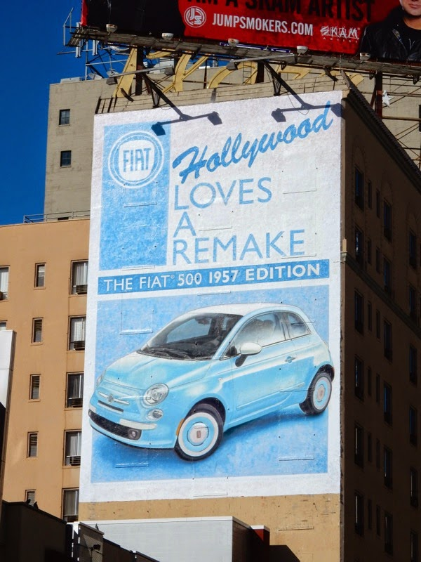 Fiat 500 Hollywood loves a remake billboard