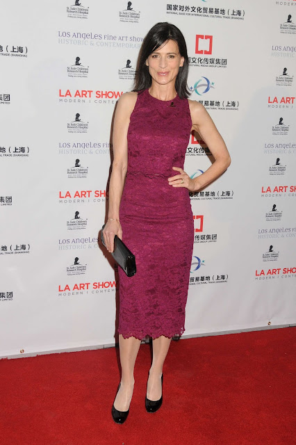 Actress, @ Perrey Reeves - LA Art Show and Los Angeles Fine Art Show's Opening Night Premiere Party in LA