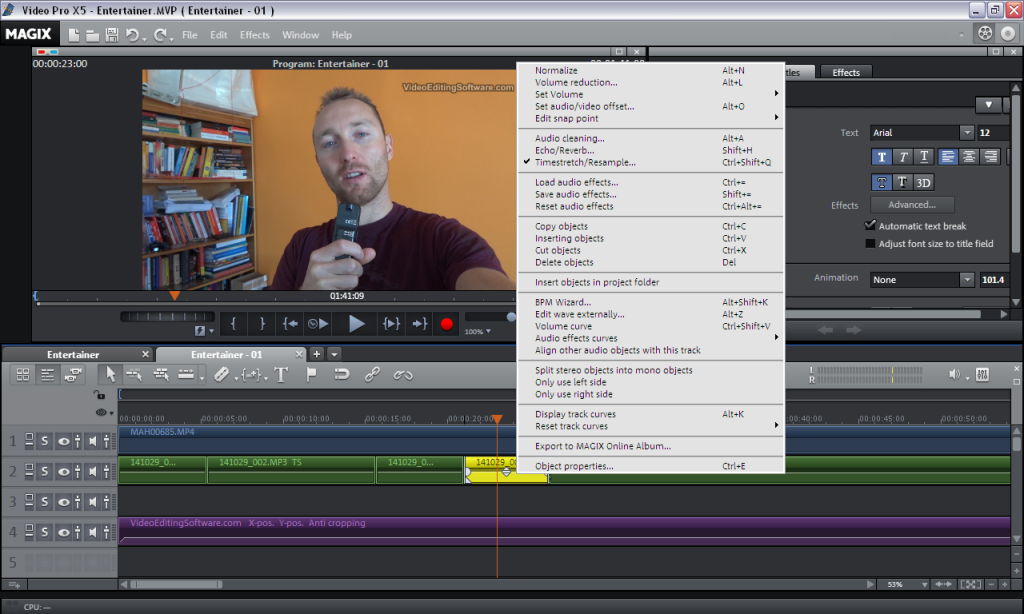 High Pitch Voice in Video Editing - Magix