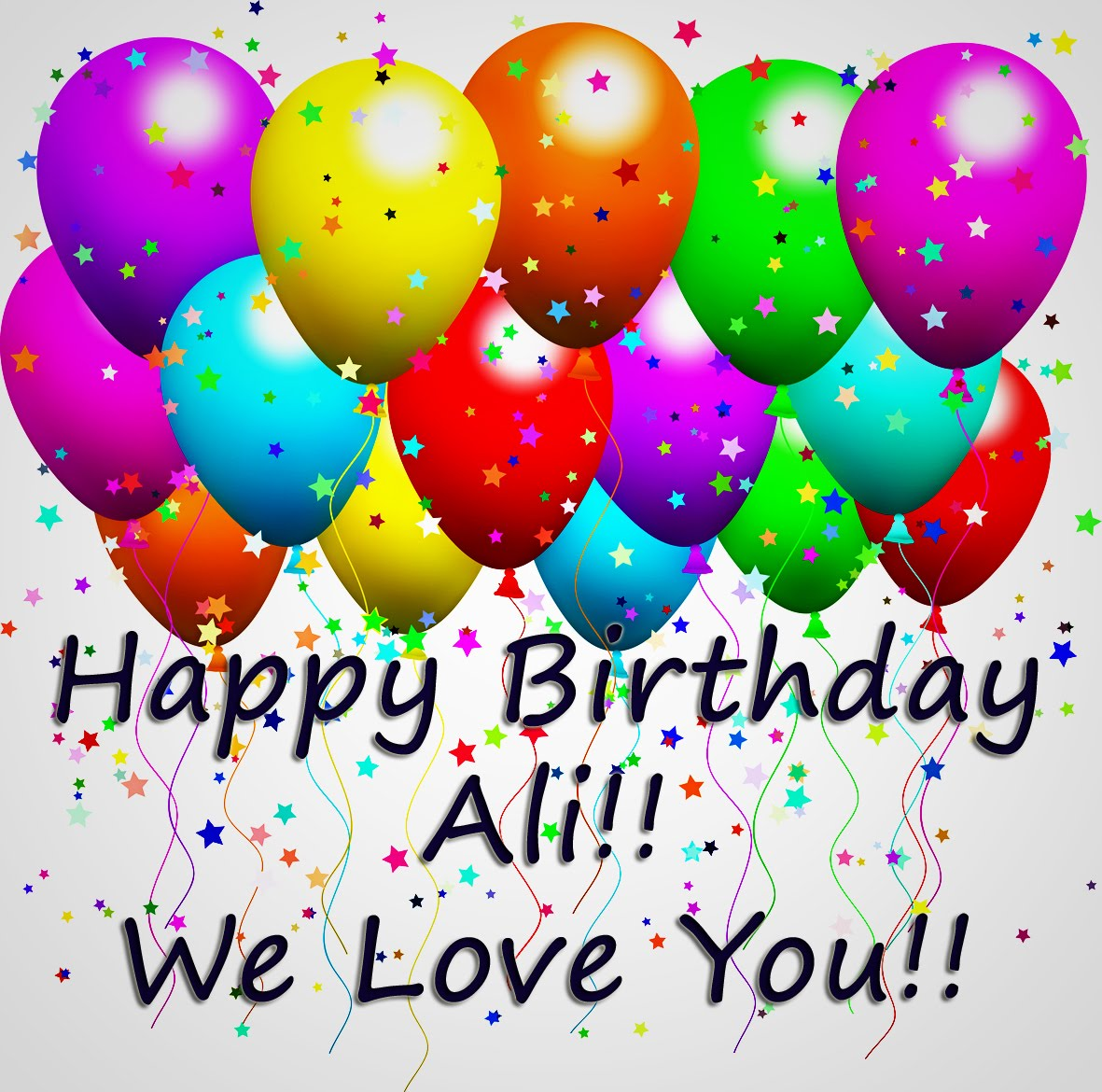Happy Birthday Ali Cake
