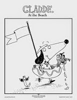 Claude at the Beach by Alex T. Smith printable coloring sheets