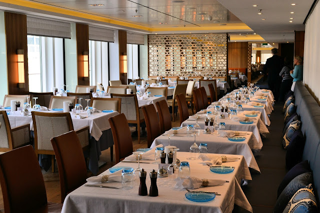 The main dining room on board the Viking Star is known as The Restaurant and offers open seating arrangement during the dinner hours. Come and go as you please.