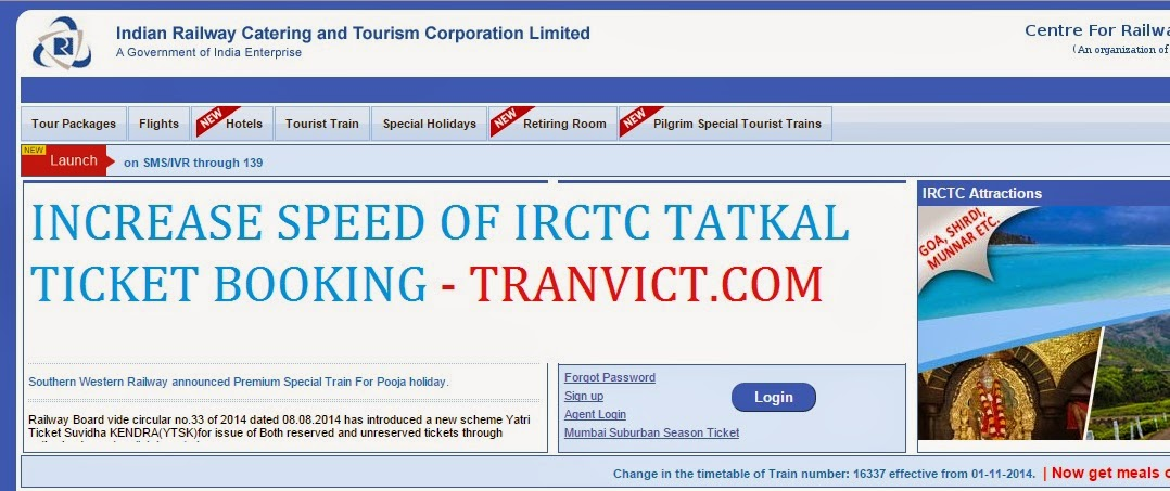 IRCTC Tatkal Ticket Booking Assistant