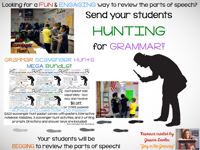 Send Your Students Hunting For Grammar Joy In The Journey