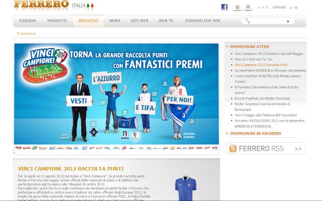 Raccolta punti Ferrero Vinci Campione 2012