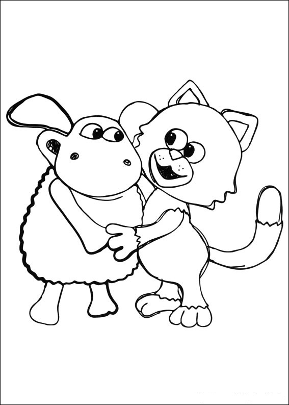 Timmy Time Sheep Coloring Pages
