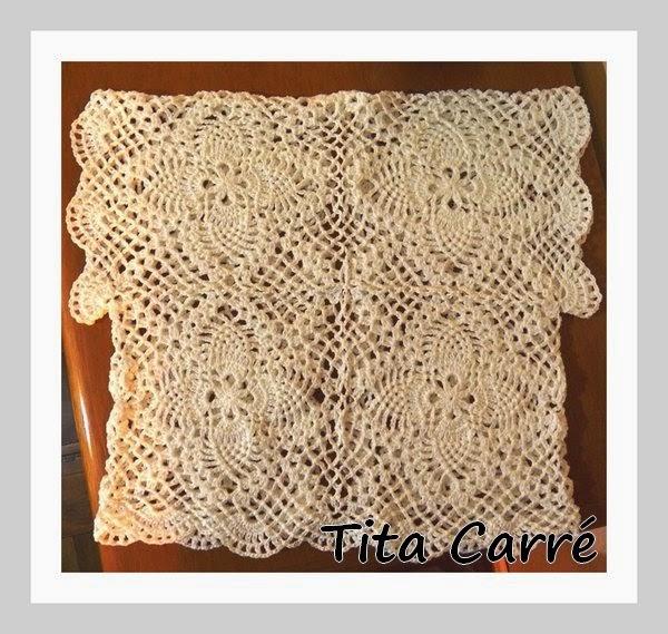 Bolero Abacaxi\Pineapple Branco em crochet
