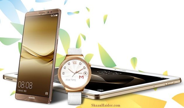 Huawei launches Mate 8, Huawei Watch and MediaPad M2 10.0 at CES 2016