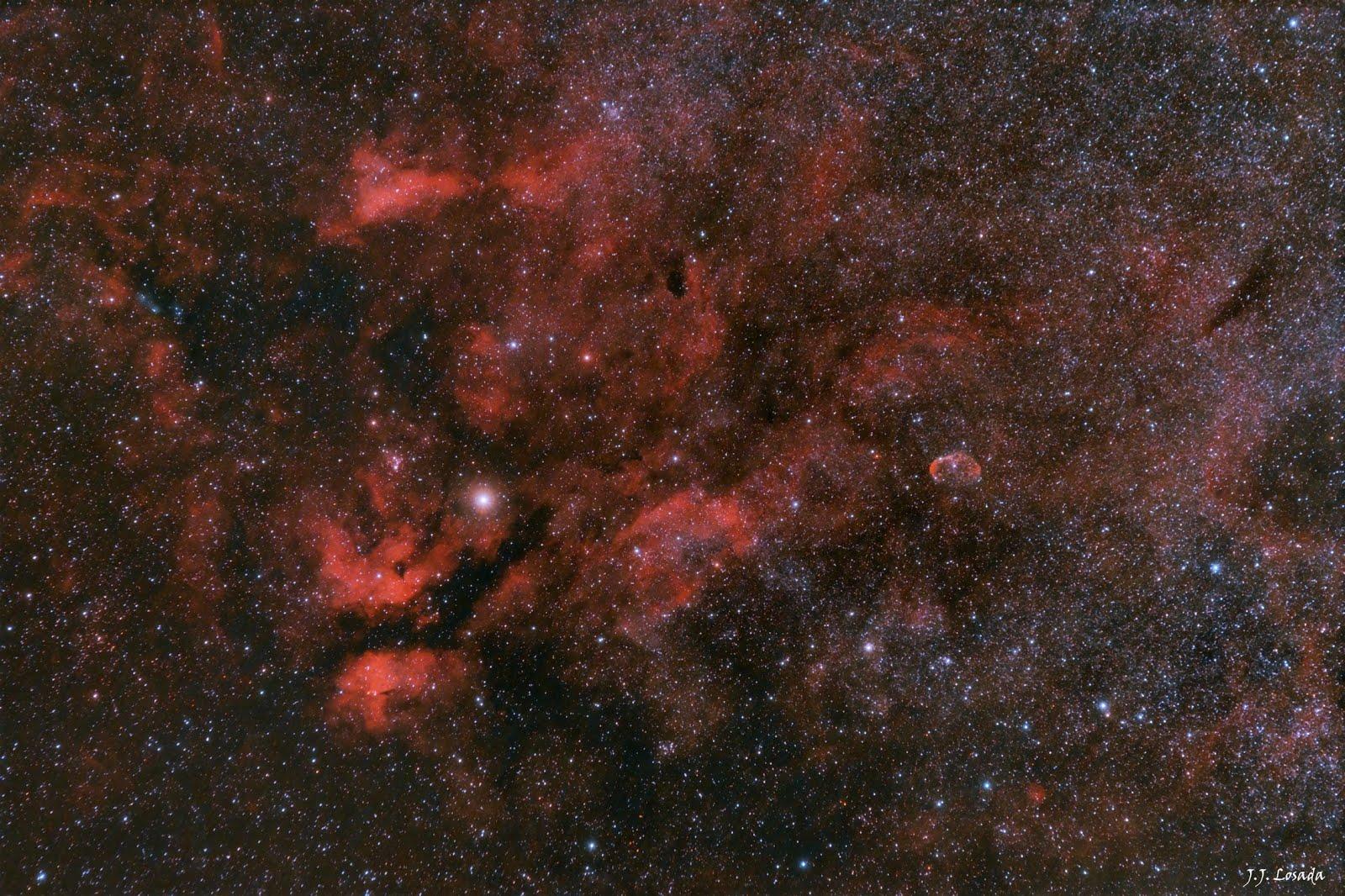Gamma Cygni & Crescent Nebula