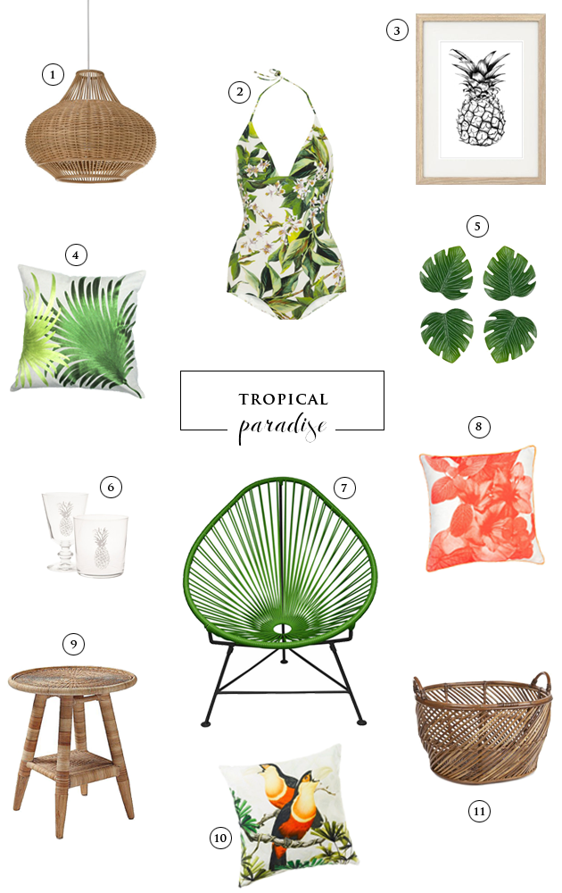 Chicdeco blog friday s wishlist tropical paradise