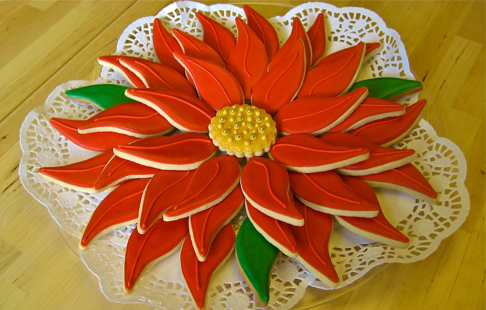 Have A Cookie!: Poinsettia Cookie Platter