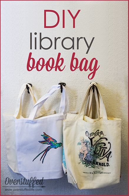 Easy DIY Library Book Bag - Overstuffed