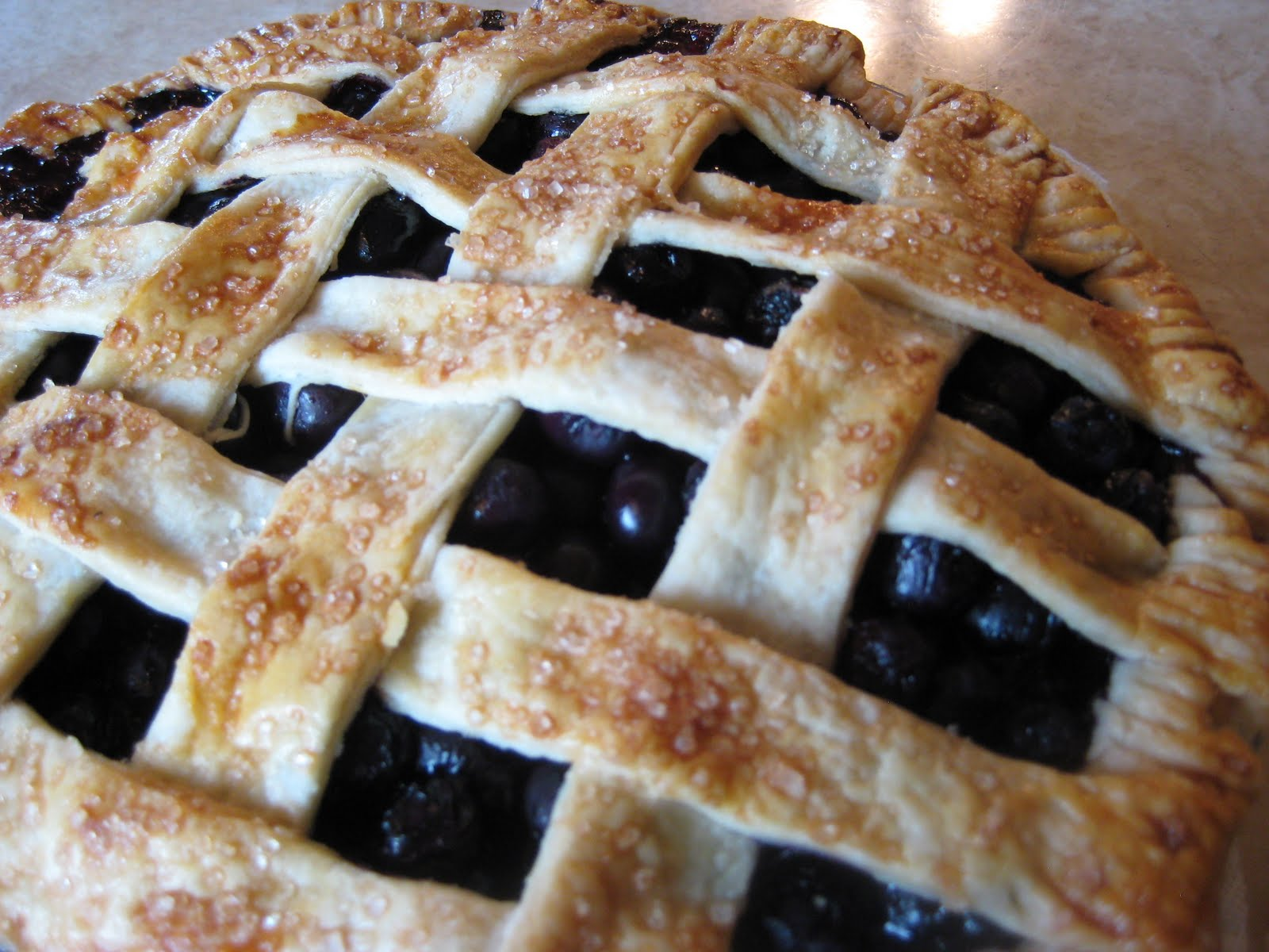 doughadear: Latticed Blueberry Pie