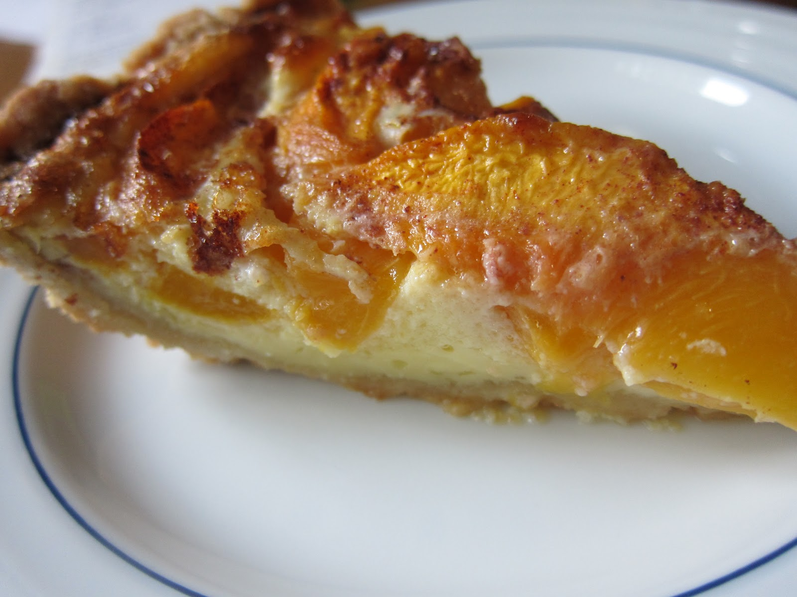 Have I told you lately...: Peach Custard Pie!