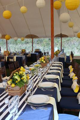 Yacht Club Navy Amp Yellow Preppy Wedding Blush Floral Design