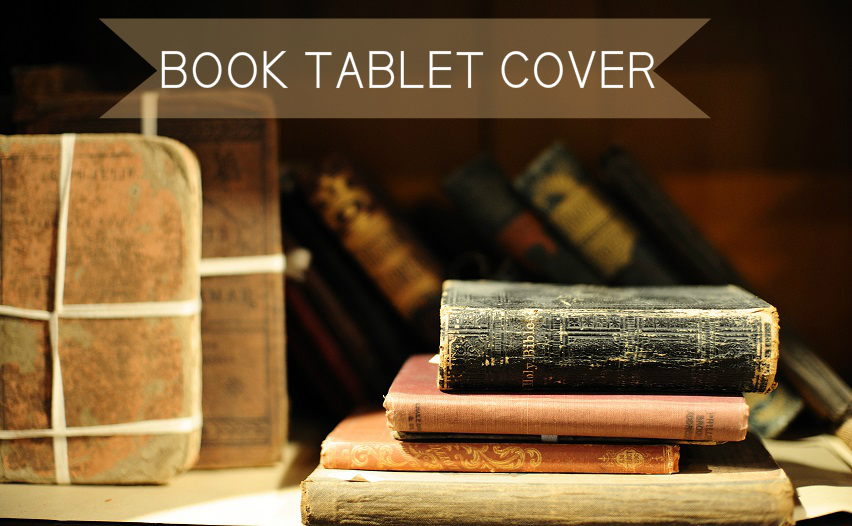 Diy Book Cover For Tablet : Turn a book into tablet cover