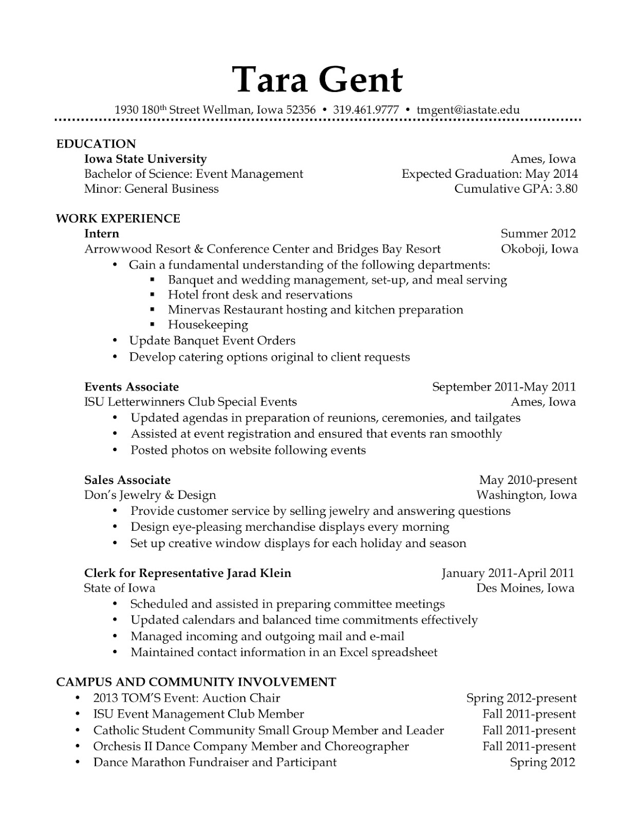 Fieldstation.co  Barista Resume Example