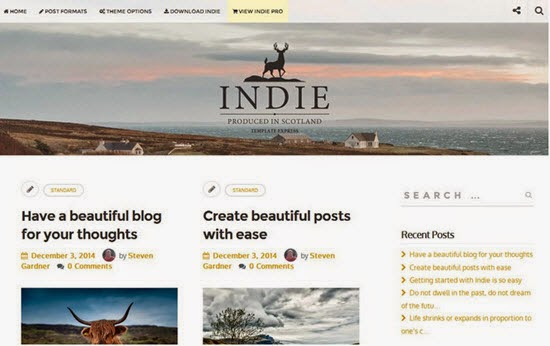 Indie WordPress Theme