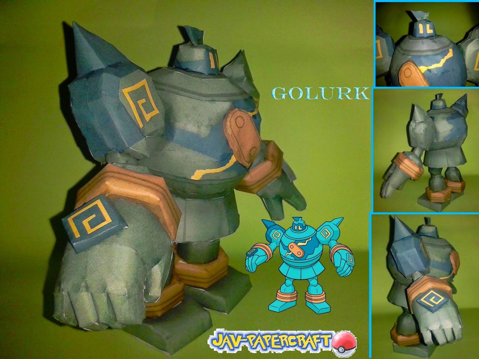 Pokemon Golurk Papercraft Model