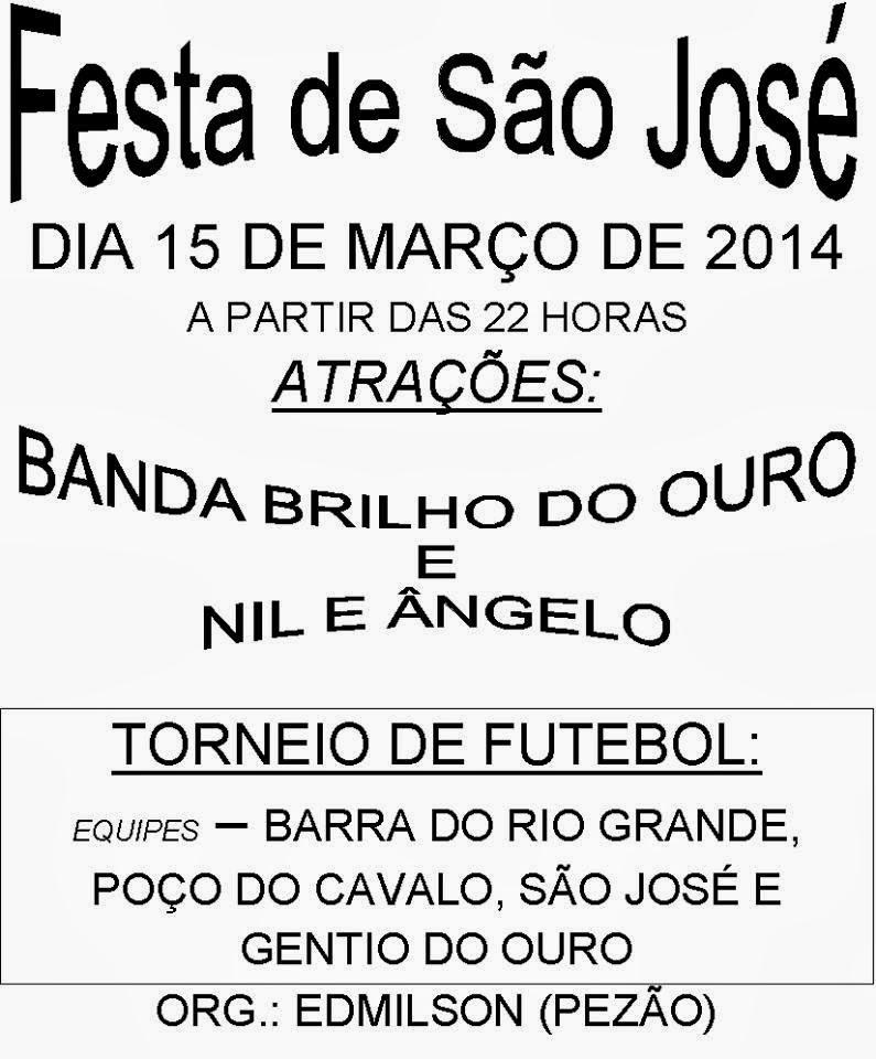 Evento - Programação festa São José 2014
