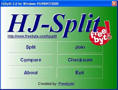 Cara Menggabungkan File Film Mengunakan HJSplit Dengan Mudah