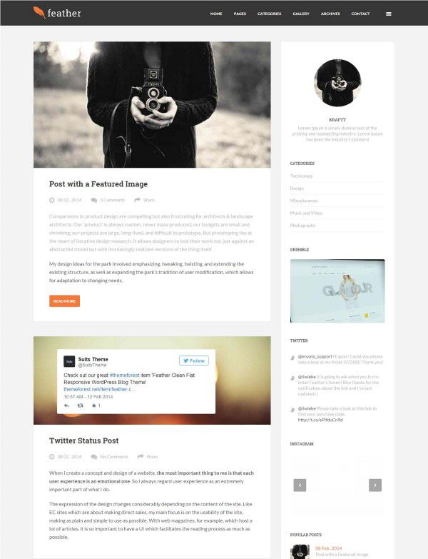 Feather WP theme