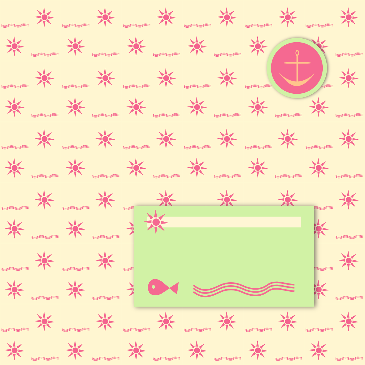 Scrapbook paper and stickers - Today I M Sharing Another Free Digital Beach Themed Scrapbooking Paper With You This Time I Ve Drawn The Sun And The Sea In A Stylized Way