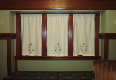 Laurelhurst Craftsman Bungalow Stencilled Curtains