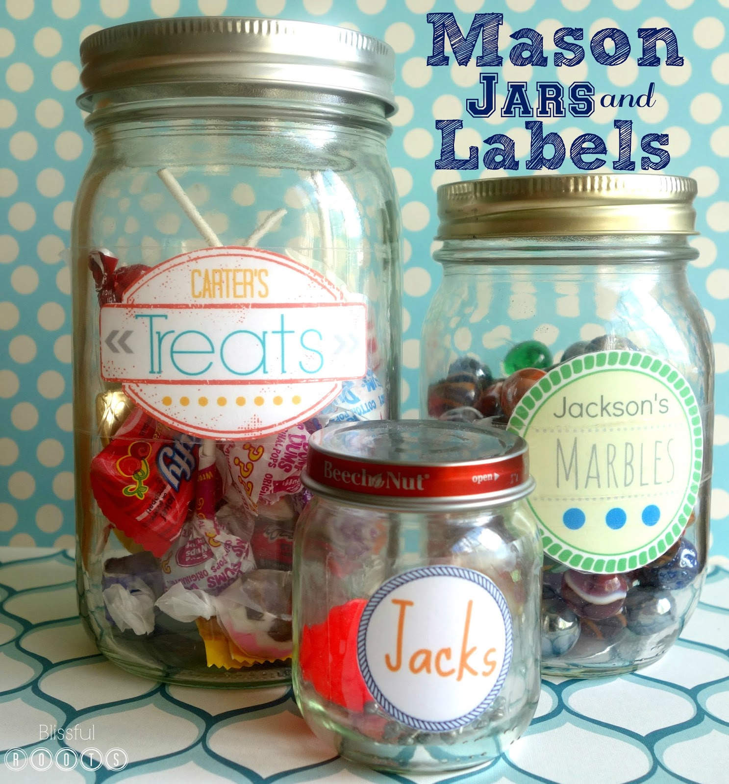 BLISSFUL ROOTS: The Magic of Mason Jars & Labels ...