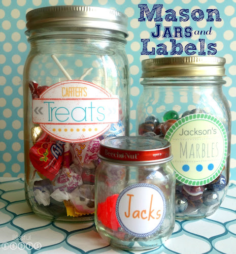 The Magic of Mason Jars & Labels {Displaying Collections} @ Blissful Roots