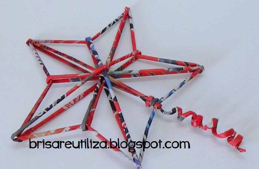 Ecobrisa diy estrella para rbol de navidad - Estrella para arbol de navidad ...
