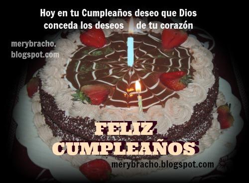 canción cumpleaños feliz te deseamos a ti. Dios te bendiga. imágenes de cumple. postales