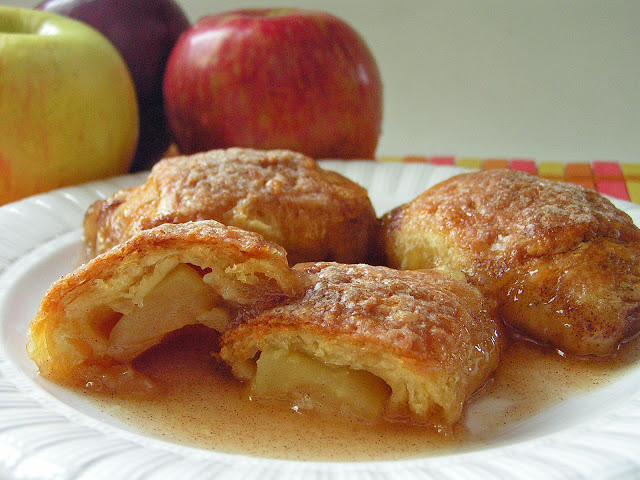 Country Apple Dumplings by Butter with a side of Bread