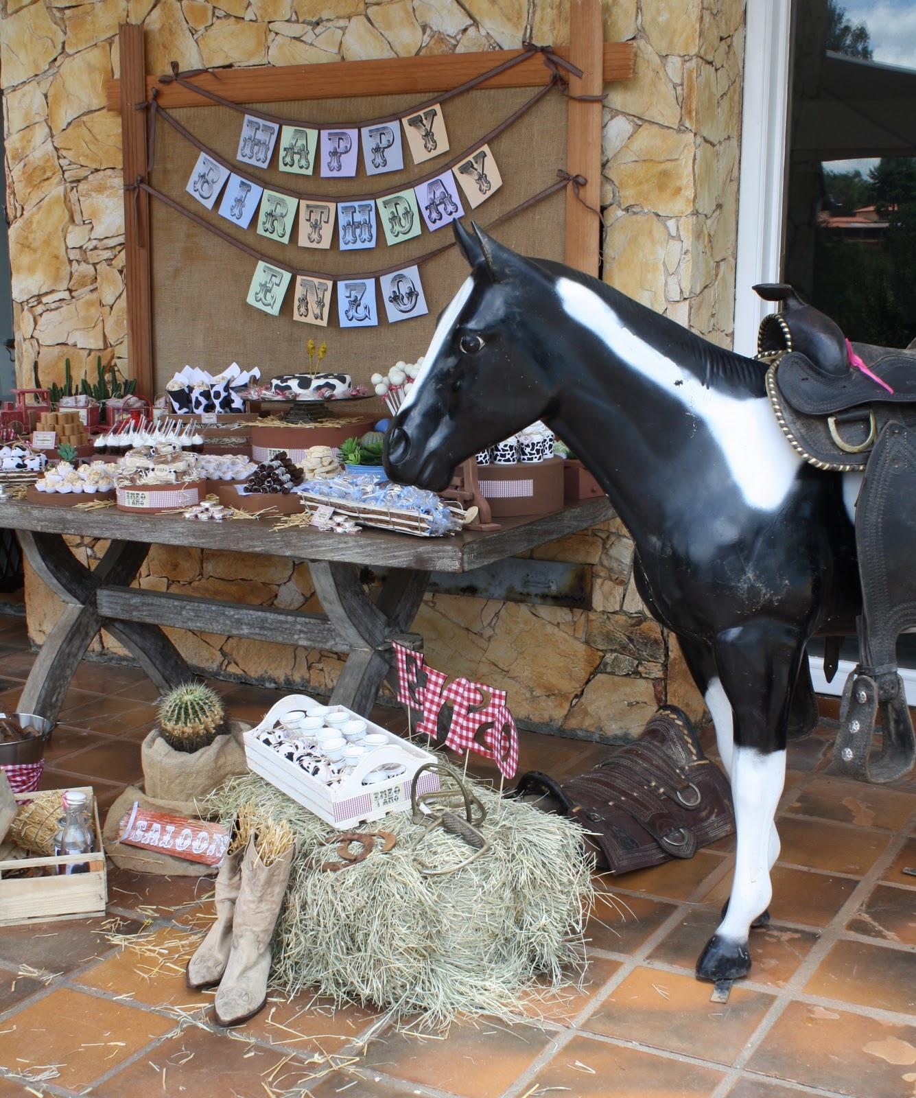 Western Decor For Birthday: Dulce Design: Cowboy Party
