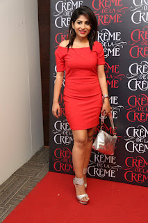 Actress Madhulagna Das Pictures in Red Short Dress at Creme De La Creme 1st Anniversary  25285)
