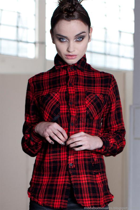 Moda otoño invierno 2014. Colección Ona Saez otoño invierno 2014 camisas.