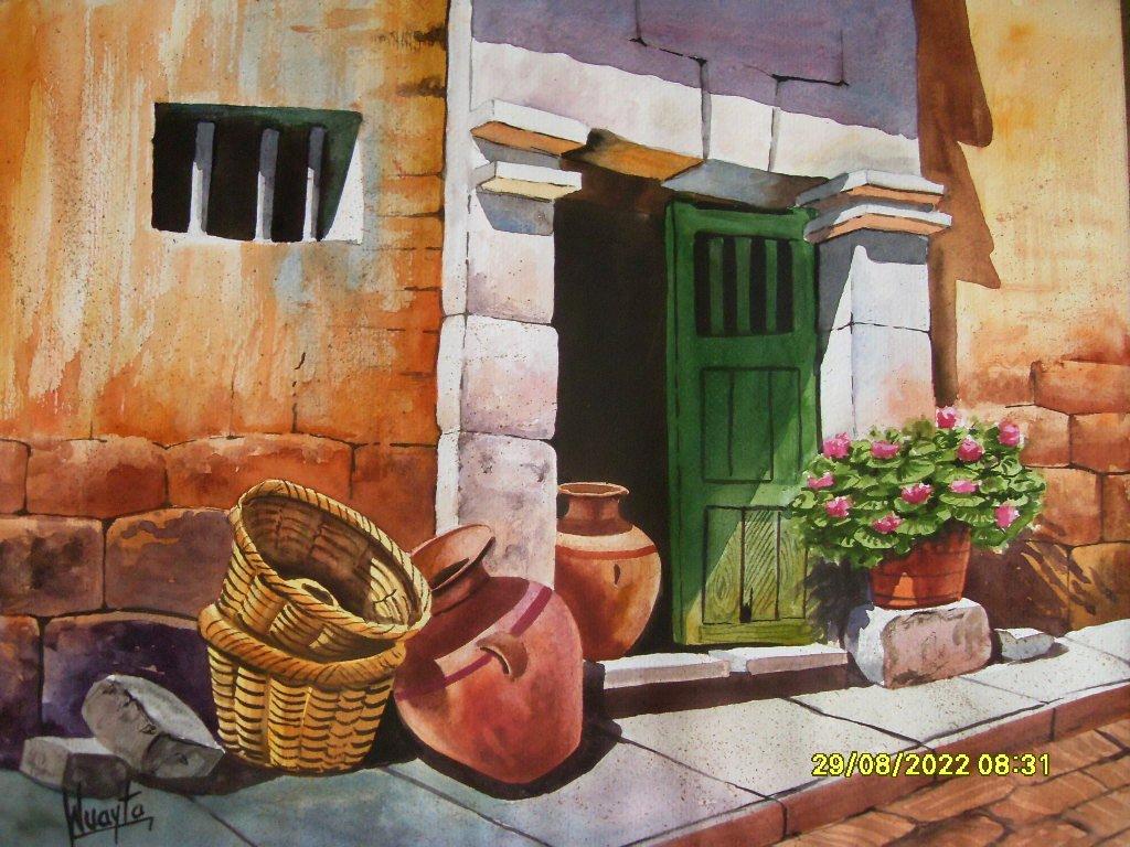 Pintura moderna y fotograf a art stica paisajes for Pintar puertas de madera viejas