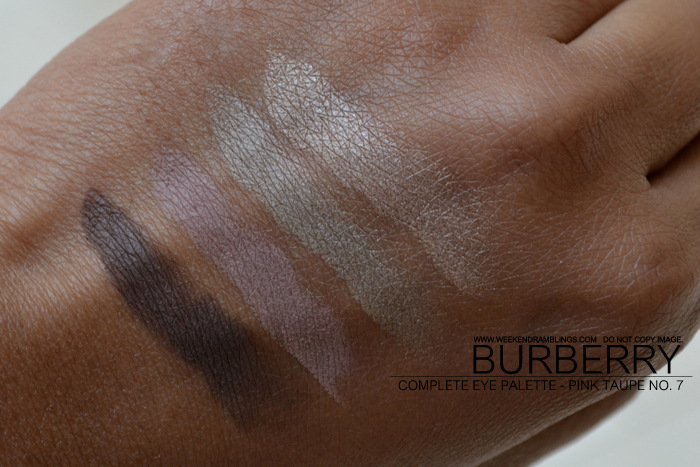 Burberry Vintage Gold Christmas Beauty Holiday 2012 Makeup Gifts Collection Complete Eyeshadow Palette Quads Indian Darker Skin Blog Swatches Pink Taupe No 07