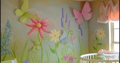 Project working idea baby girl garden nursery theme for Baby girl butterfly bedroom ideas